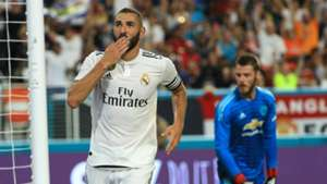 Benzema Manchester United Real Madrid ICC 2018