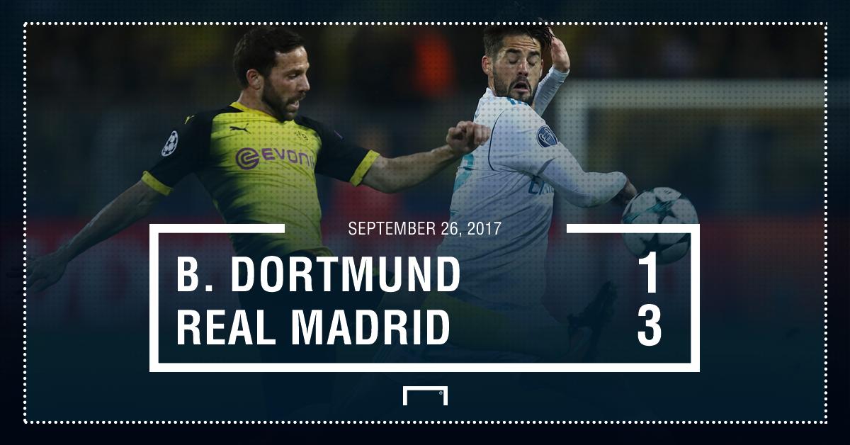 Real Madrid score Dortmund