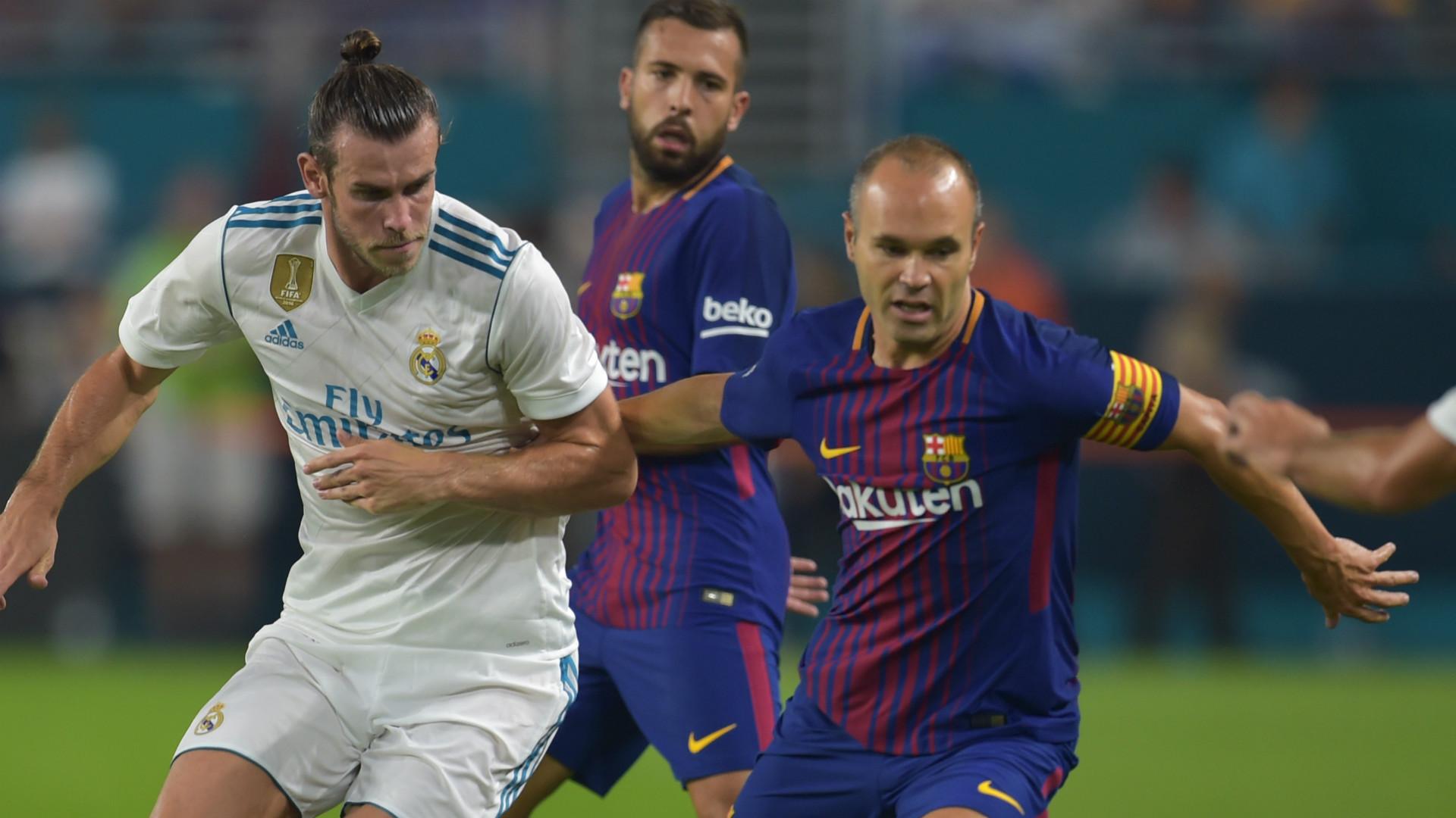 Gareth Bale Andres Iniesta Real Madrid Barcelona
