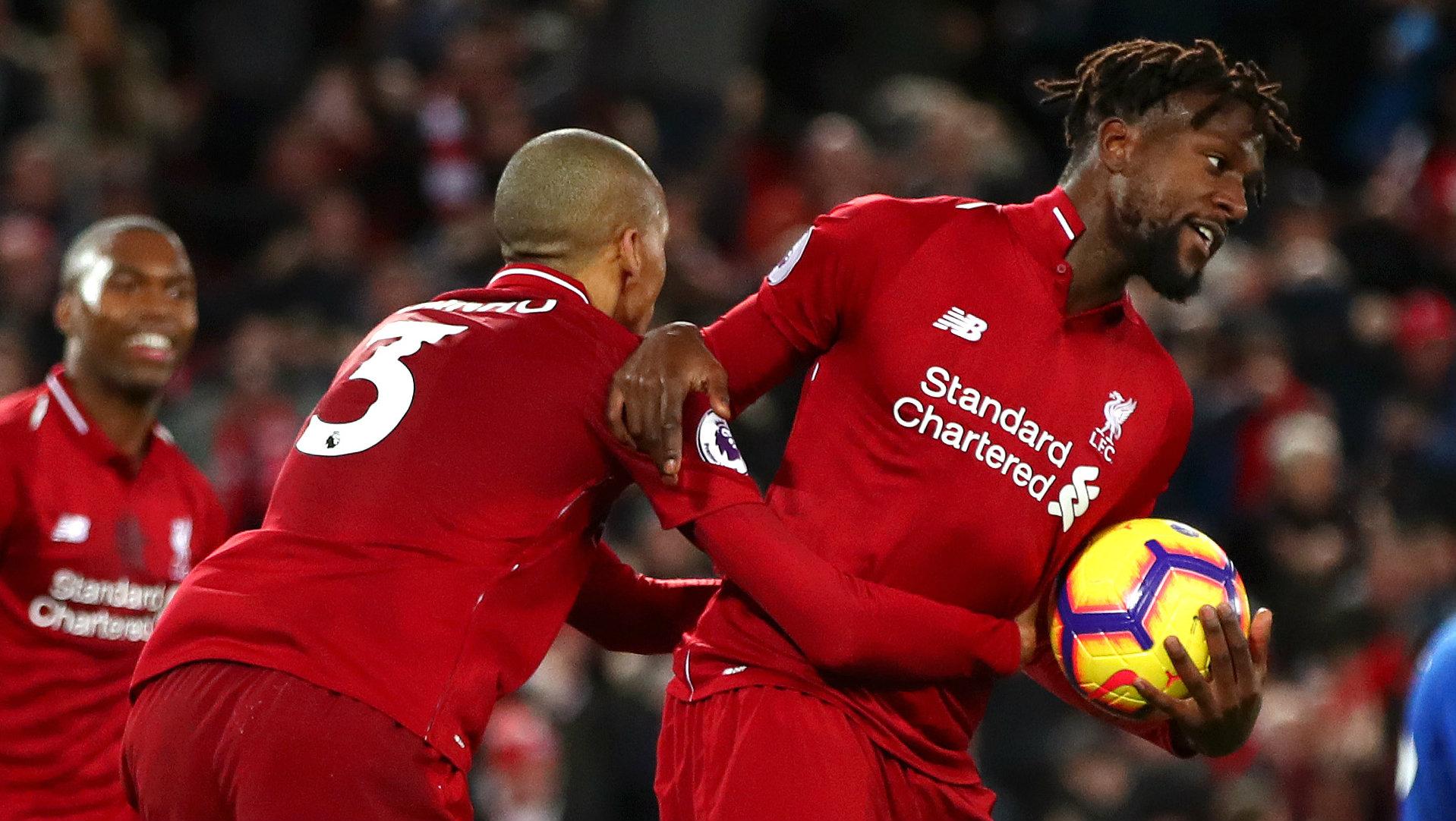Divock Origi Liverpool vs Everton Premier League 2018-19