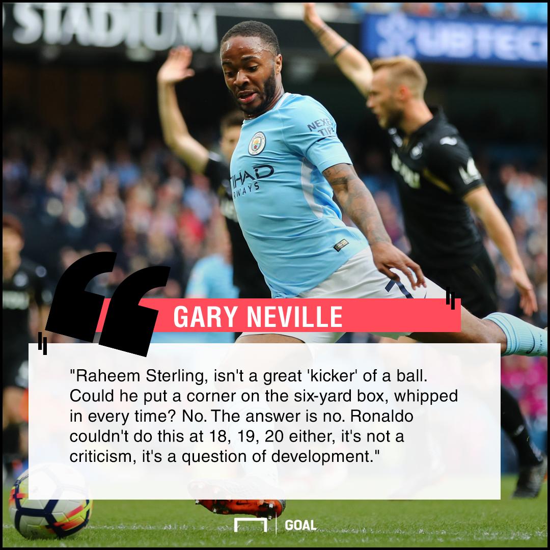 Raheem Sterling learn from Ronaldo Gary Neville