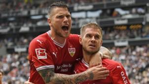 Simon Terodde, Daniel Ginczek, Frankfurt - Stuttgart, Bundesliga, 09302017