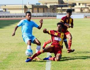 Rana Gharami in action for Bengal in Santosh Trophy