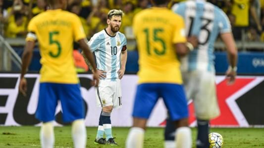 Lionel Messi Brazil v Argentina World Cup qualifying 10112016