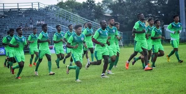 Mohun Bagan team in practice