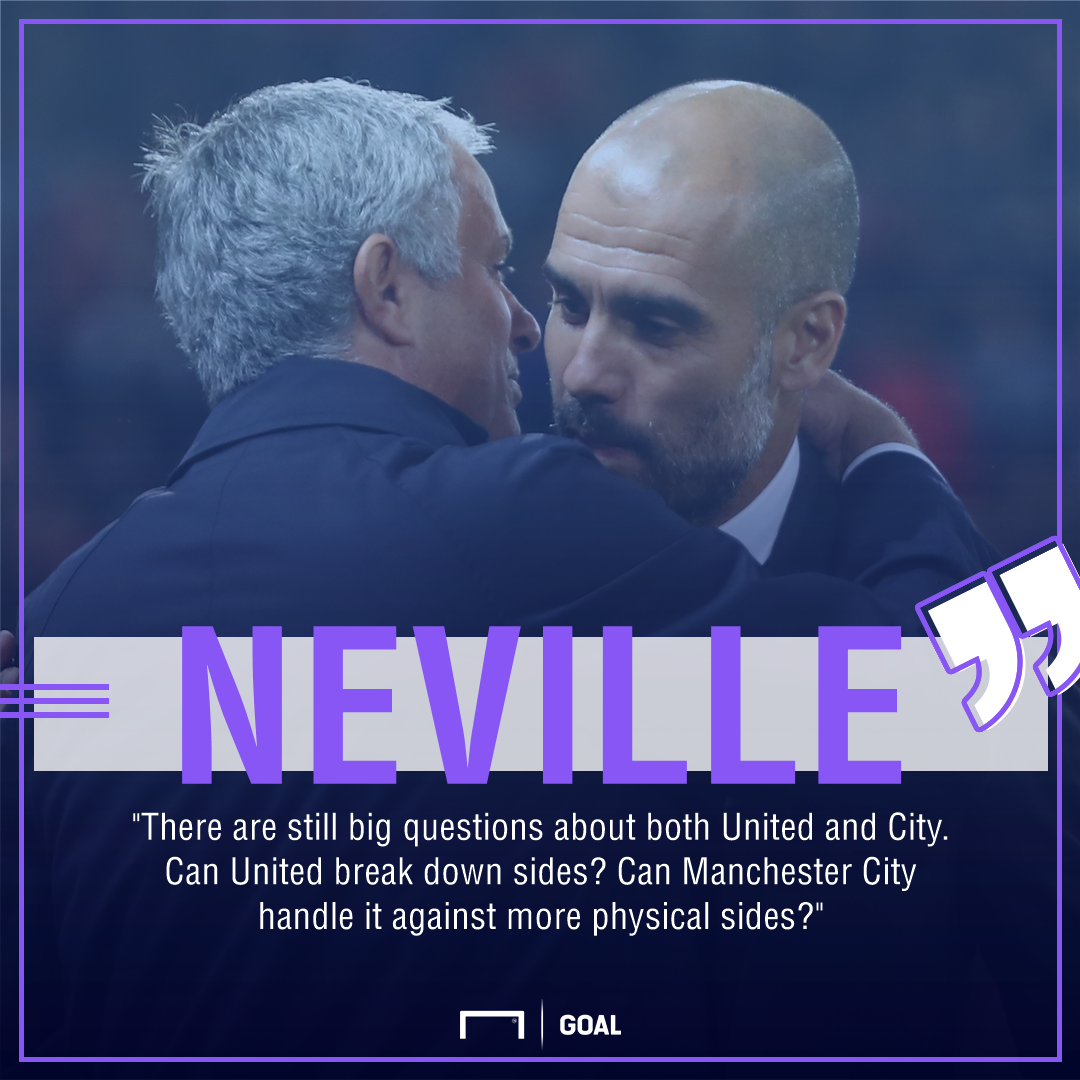 Gary Neville Manchester United City big questions