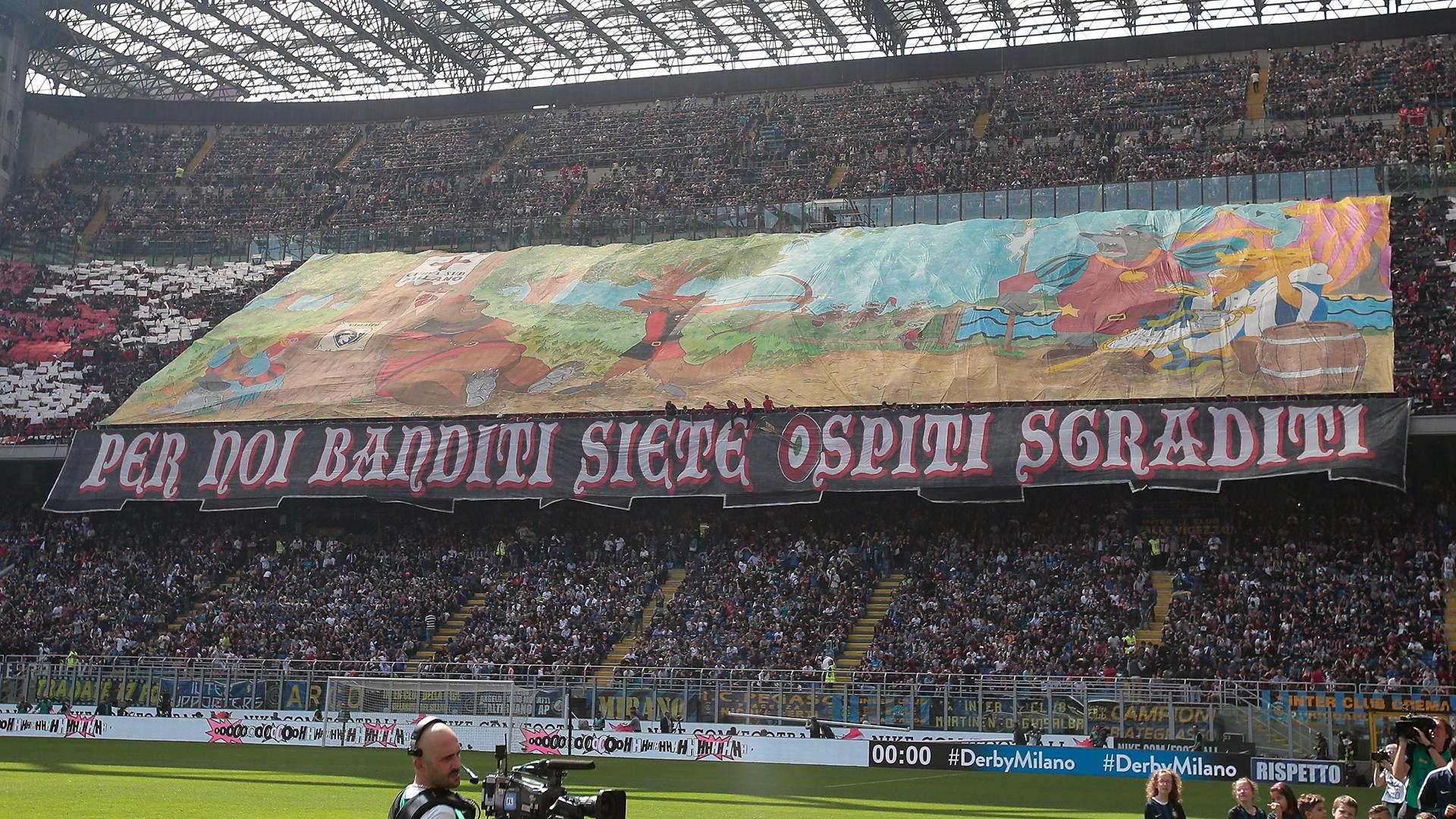 AC Milan Inter derby coreografie