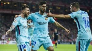 FC Barcelona Lionel Messi Andre Gomes Jordi Alba LaLiga 102817