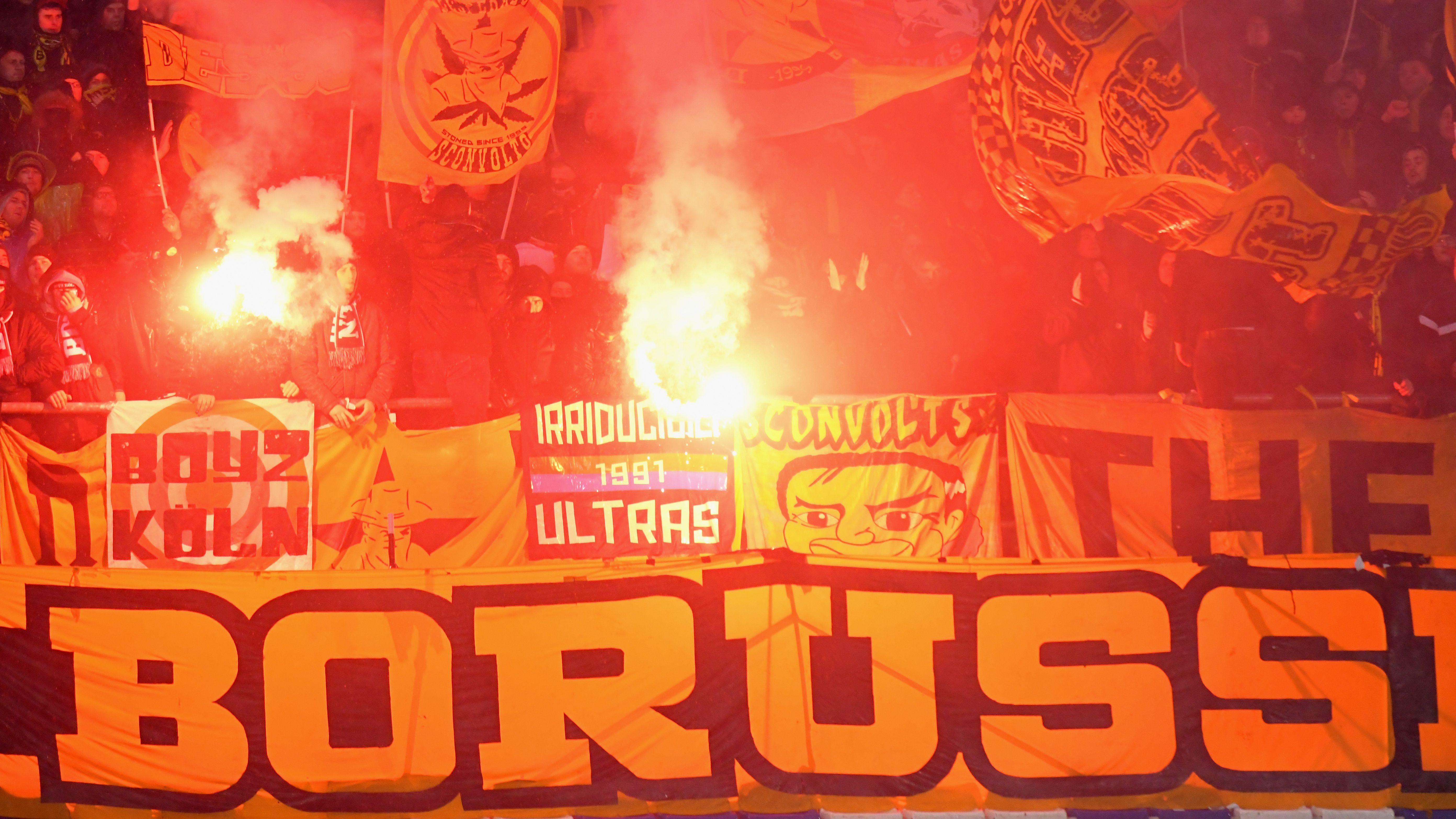 Atalanta Borussia Dortmund fans Europa League