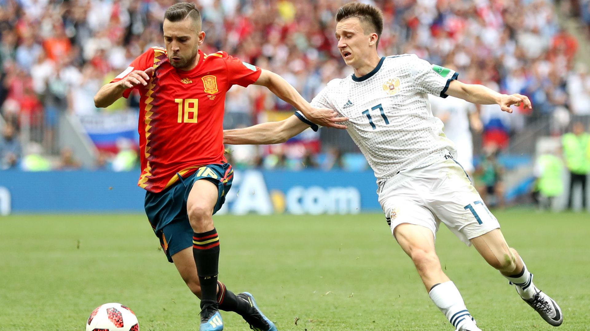 Jordi Alba Spain Russia World Cup