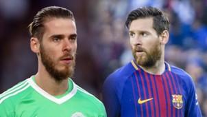 De Gea, Messi