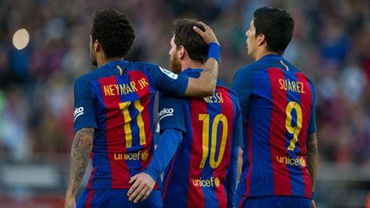 2018-05-13 Neymar, Lionel Messi, Luis Suarez