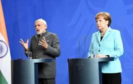 Narendra Modi Angela Merkel