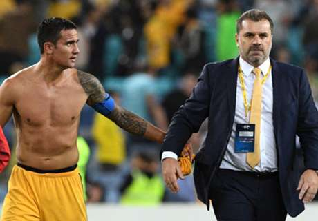 Ange urges Socceroos to take Cahill and Arzani