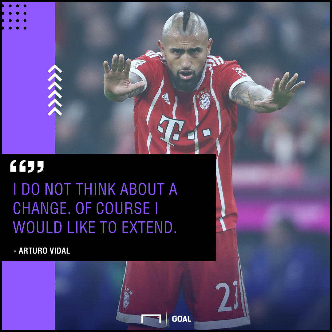 Arturo Vidal Bayern Munich wants new contract