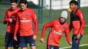Cavani e Neymar PSG Treino 21 09 17