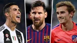 Cristiano Ronaldo Lionel Messi Antoine Griezmann