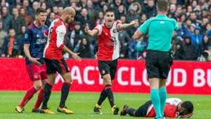Kevin Diks - Klaas Jan Huntelaar, Feyenoord - Ajax, St. Juste, Karim El Ahmadi, Eredivisie 10222017