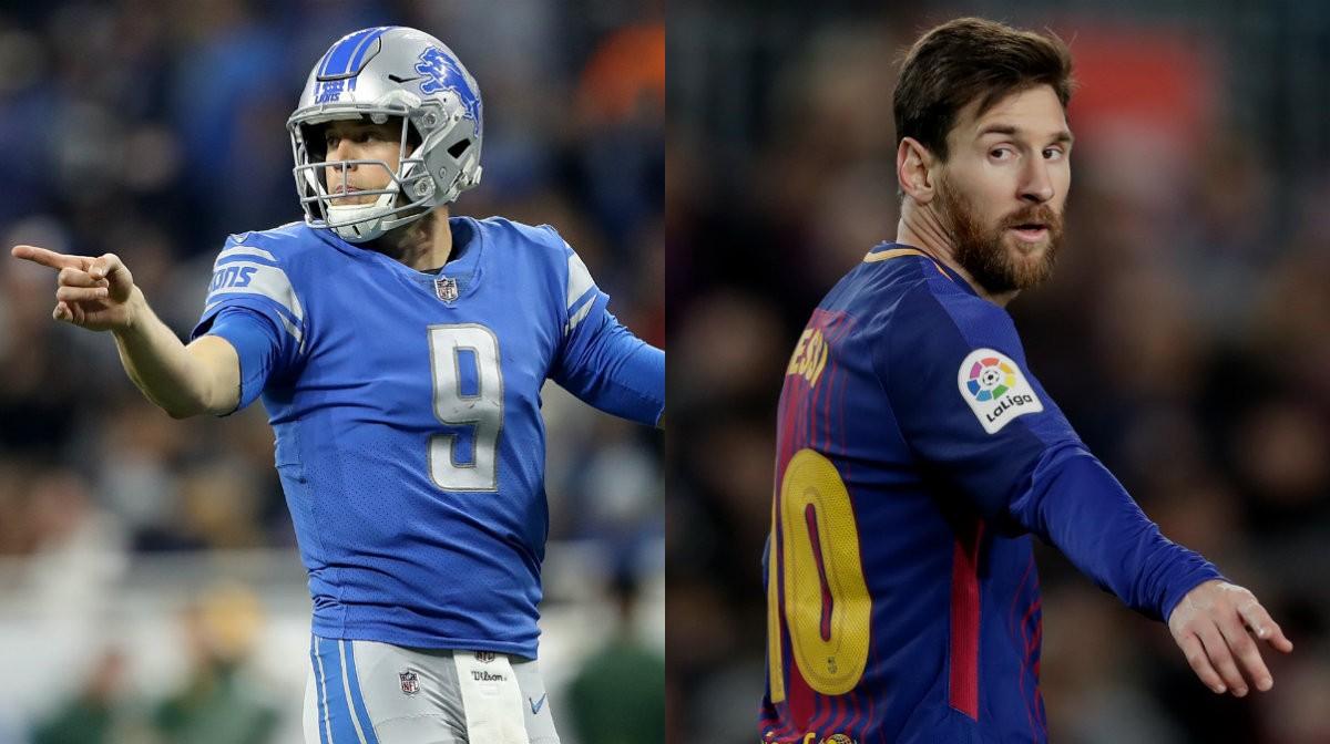 Collage Messi Stafford Super Bowl