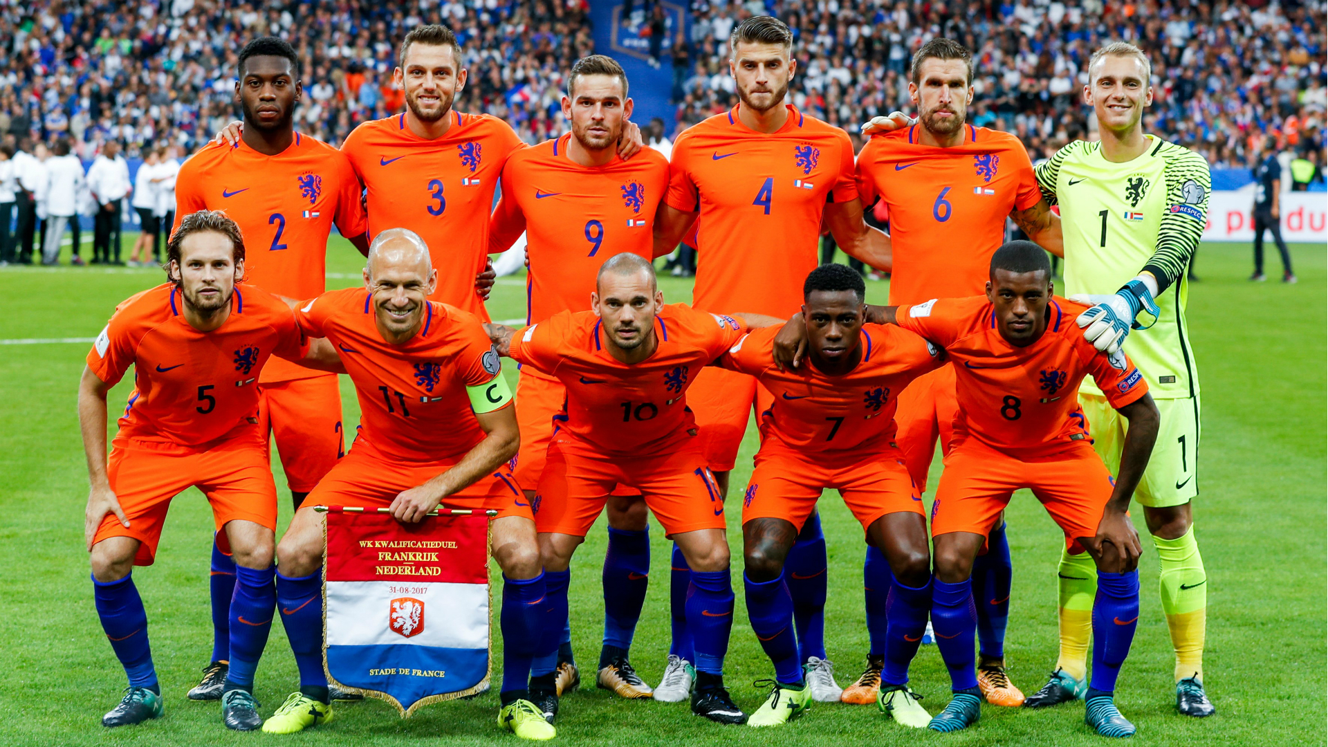 Frankrijk - Nederland, 31-08-2017, Oranje
