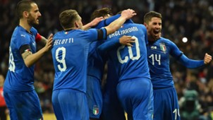Italy celebrating vs England