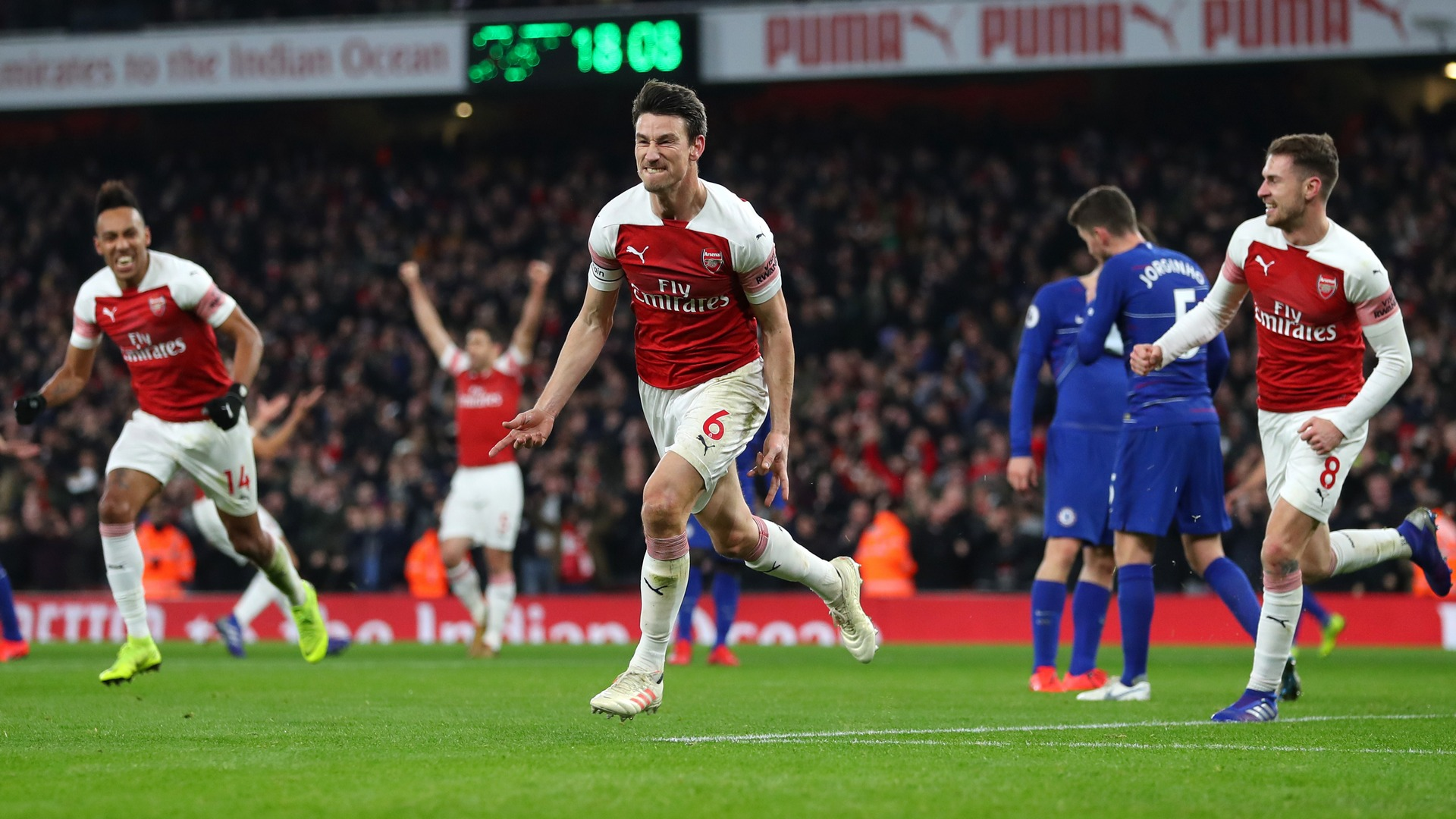 Laurent Koscielny Arsenal Chelsea EPL 01192019