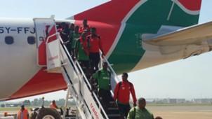 Harambee Stars arrive in Kisumu