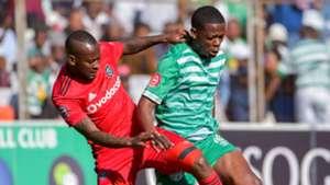 Mpho Makola, Orlando Pirates & Ndumiso Mabena, Bloemfontein Celtic, August 2018