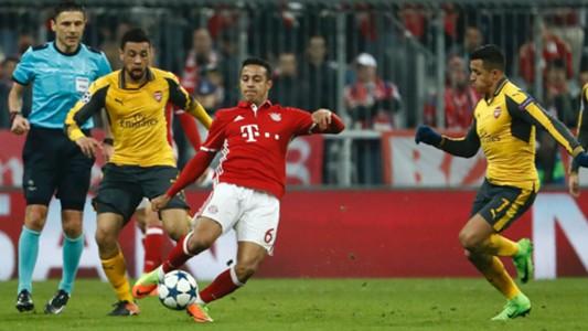 Thiago Alcantara Bayern Munich Arsenal