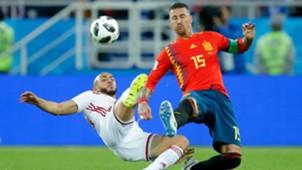 Sergio Ramos Nordin Amrabat Spain Morocco España Marruecos 25062018
