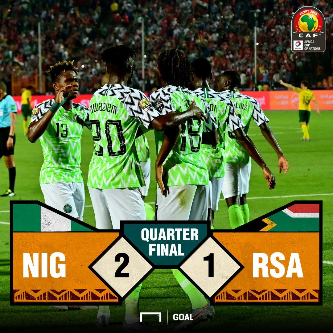 Nigeria v SA Score PS