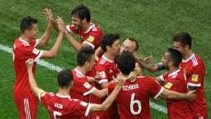 Russia celebrates vs New Zealand Confederations Cup