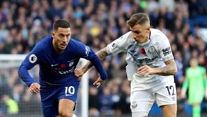 Eden Hazard Lucas Digne Chelsea Everton