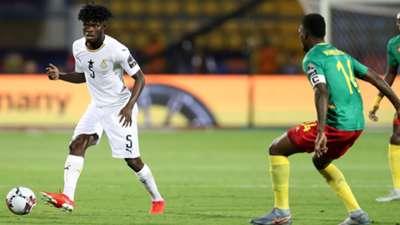 Ghana's Thomas Teye Partey and Georges Mandjeck of Cameroon