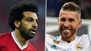 Mohamed Salah Sergio Ramos Liverpool Real Madrid 2017-18