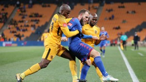 Willard Katsande Jeremy Brokie and Ramahlwe Mphahlele - Kaizer Chiefs v SuperSport United