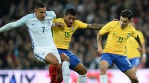Paulinho Jake Livermore Coutinho England Brazil Friendly 14112017