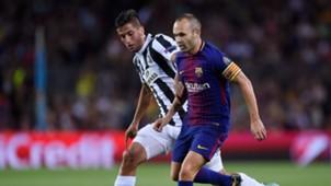Andres Iniesta Rodrigo Betancur Barcelona Juventus Champions League 12092017