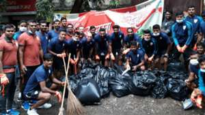 Indian national team Swachhta Hi Seva