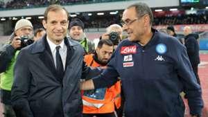 Maurizio Sarri Massimilano Allegri Napoli Juventus