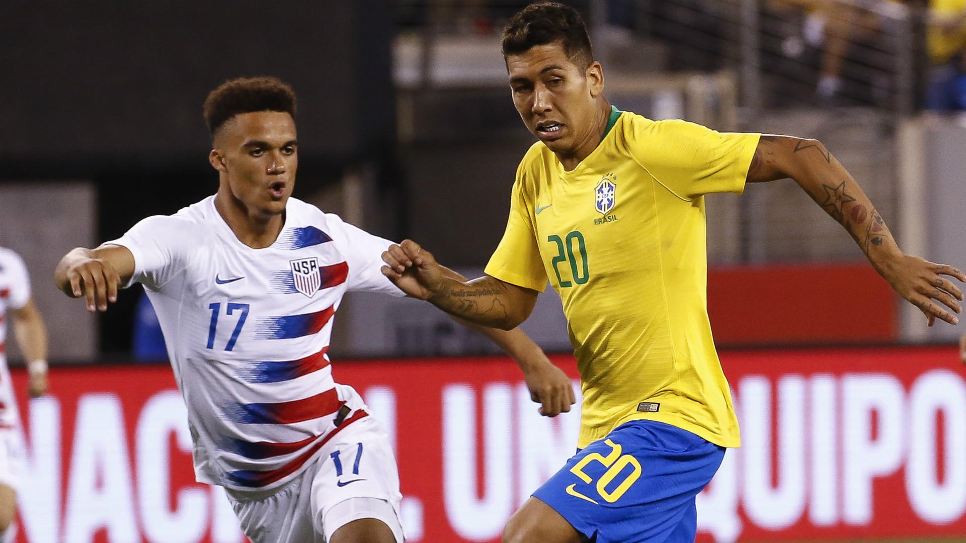Antonee Robinson Roberto Firmino USA Brazil 09072018