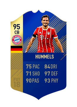 FIFA 18 Bundesliga Team of the Season Mats Hummels