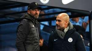 Jurgen Klopp Pep Guardiola Liverpool Manchester City 2018-19