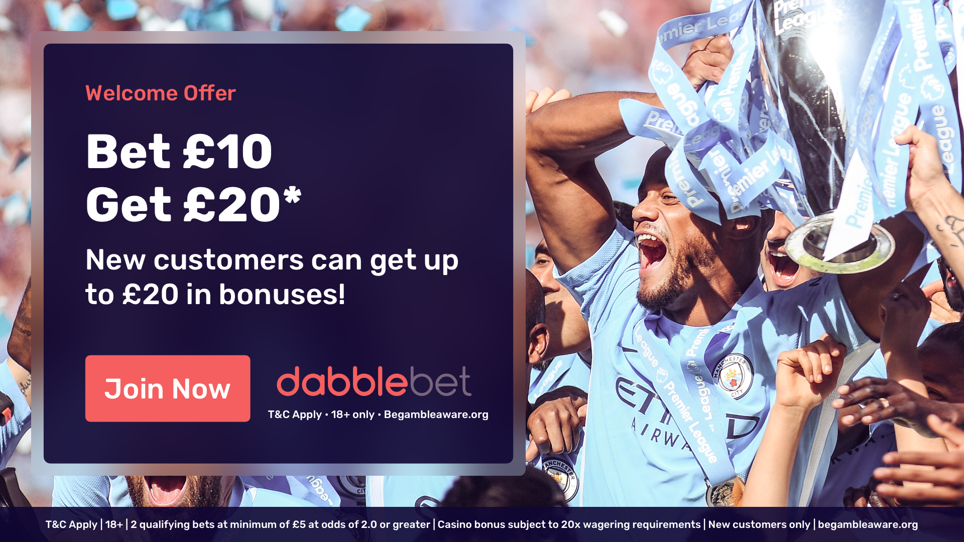 dabblebet new customer offer in article
