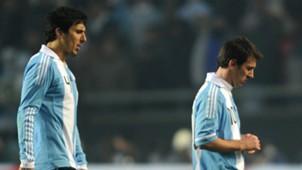 Burdisso Messi Argentina Bolivia Copa America 2011