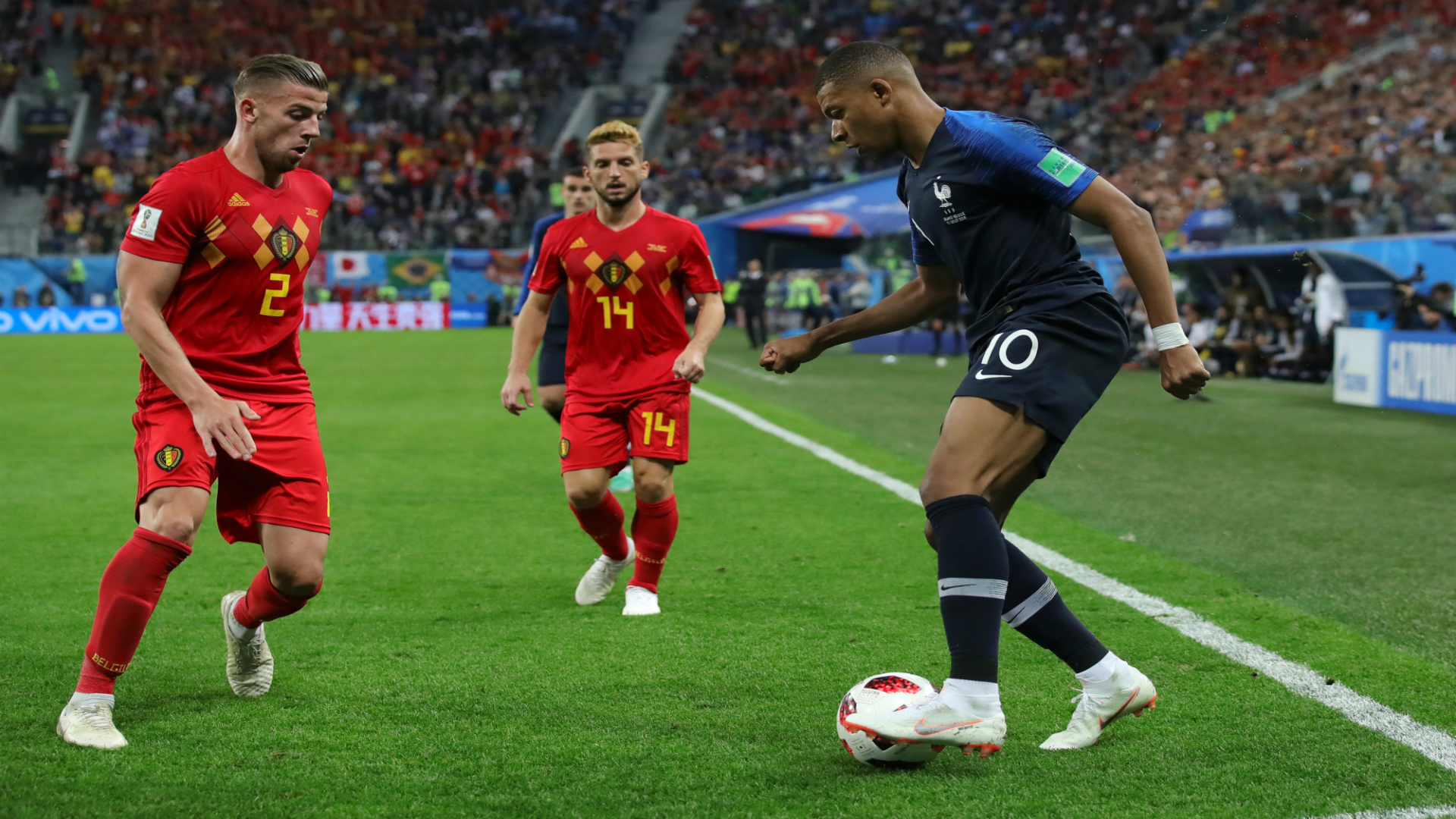 Kylian Mbappe France Belgium