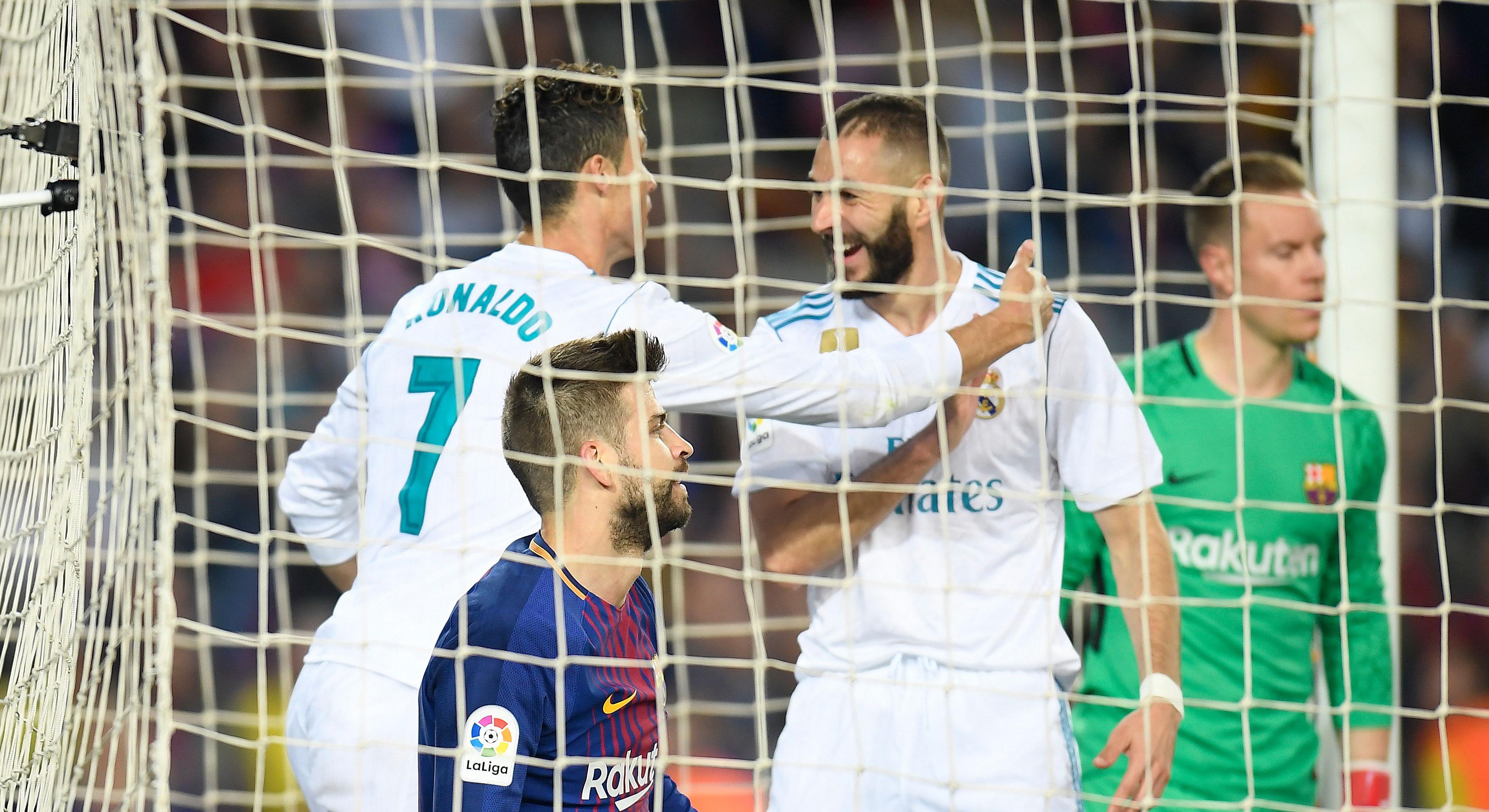 Cristiano Ronaldo Karim Benzema Barcelona Real Madrid