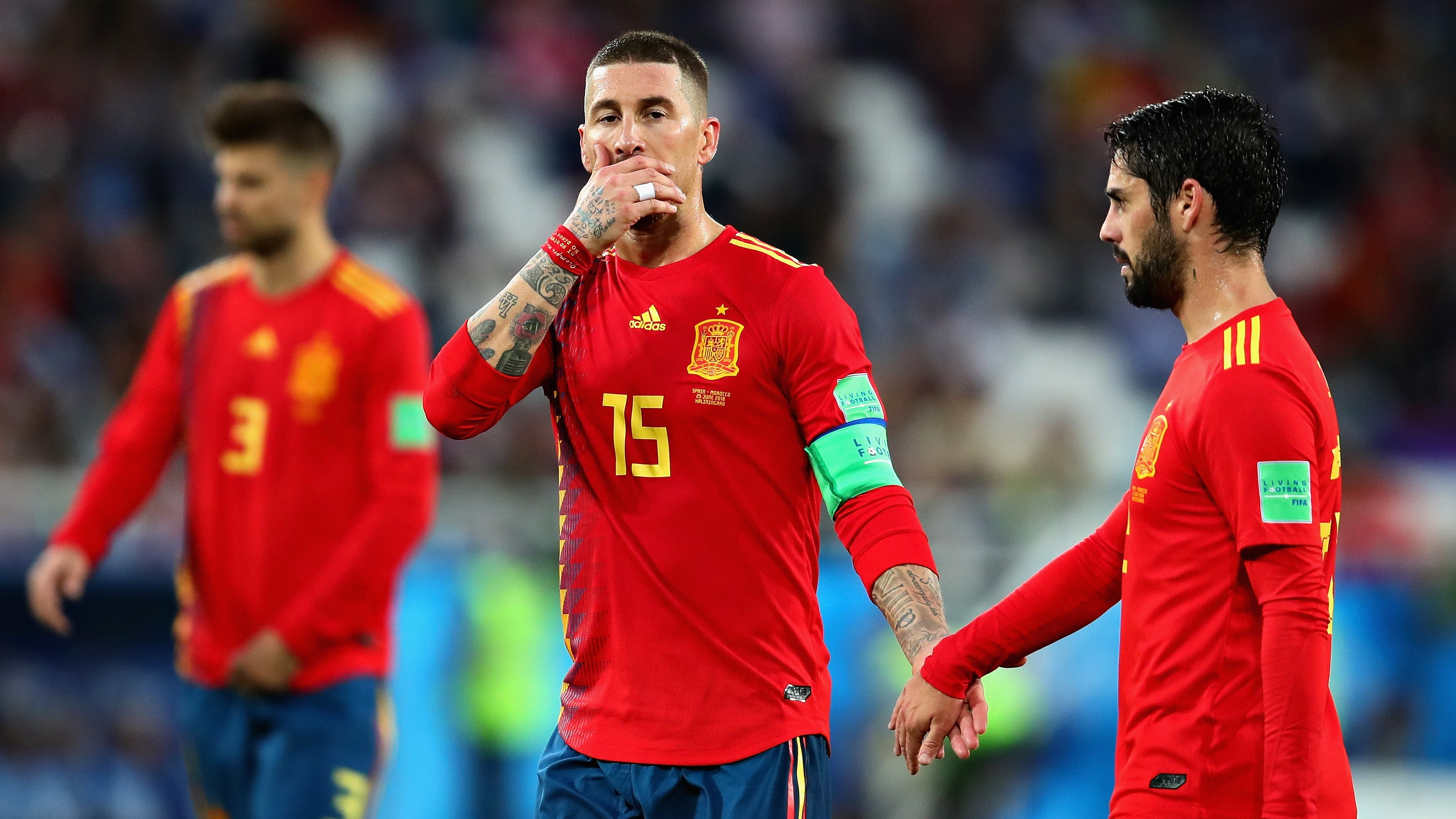 Sergio Ramos Isco Alarcon Spain Morocco España Portugal 25062018