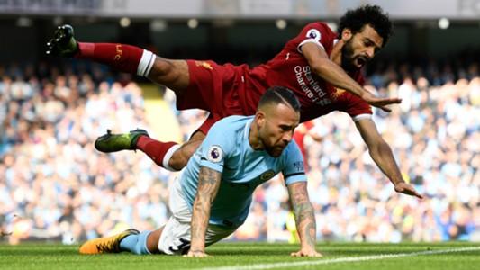 Mohamed Salah Nicolas Otamendi Liverpool Manchester City