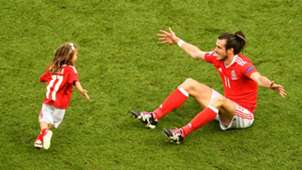 Gareth Bale with daughter